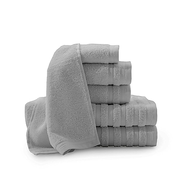 Darby Home Co Gloster Pure Elegance Turkish 6 Piece Towel Set; Sterling