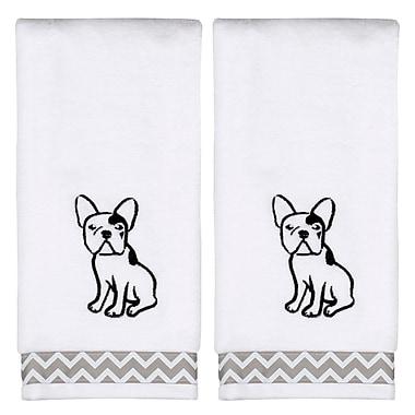 Ivy Bronx Caballero Soft White Cotton Hand Towel (Set of 2)