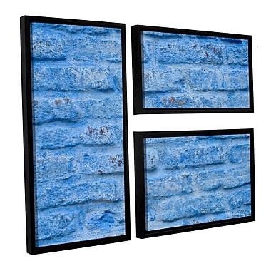 Latitude Run 'Blue Wall' 3 Piece Framed Photographic Print Set