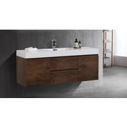 Orren Ellis Sinope 58.75'' Single Bathroom Vanity Set