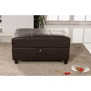 Bellasario Collection Elegant Classic Buckled Wood Storage Bedroom Bench