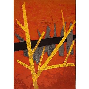 Latitude Run Susanna Hand-Tufted Red Wool Area Rug; 7'5'' x 9'6''