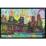 Latitude Run 'Brooklyn Bridge' Hanging Framed Graphic Art Print Poster
