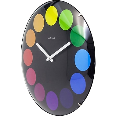 Latitude Run Dots Dome 13.78'' Round Wall Clock