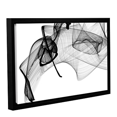 Orren Ellis 'Abstract Poetry in Black and White 156' Framed Graphic Art Print on Canvas