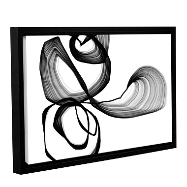 Orren Ellis 'Abstract Poetry in Black and White 104' Framed Graphic Art Print on Canvas