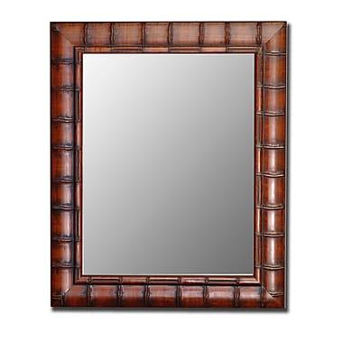 Bayou Breeze Rectangle Bamboo Wall Mirror; 46'' H x 36'' W
