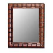 Bayou Breeze Rectangle Bamboo Wall Mirror; 66'' H x 30'' W