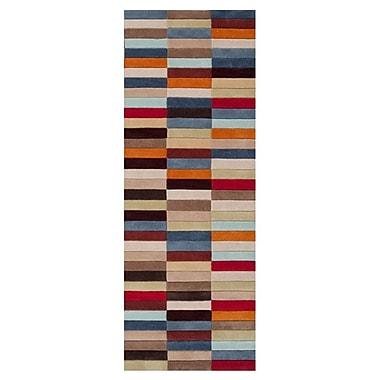 Ebern Designs Deveau Raw Umber/Parsnip Rug; 5' x 8'