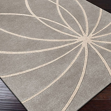 Ebern Designs Dewald Gray/Cream Area Rug; Runner 2'6'' x 8'