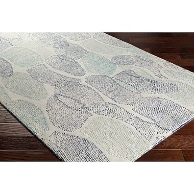 Ebern Designs Digby Hand-Tufted Gray/Blue Area Rug; 4' x 6'