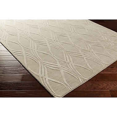 Ebern Designs Dionne Hand-Tufted Neutral Rectangle Area Rug; 5' x 7'6''