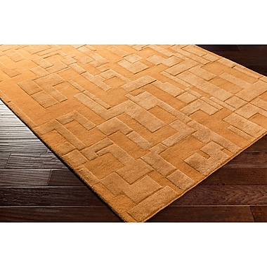 Ebern Designs Dionne Hand-Tufted Orange Area Rug; 5' x 7'6''