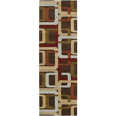 Ebern Designs Dewald Brown Area Rug; 9' x 12'