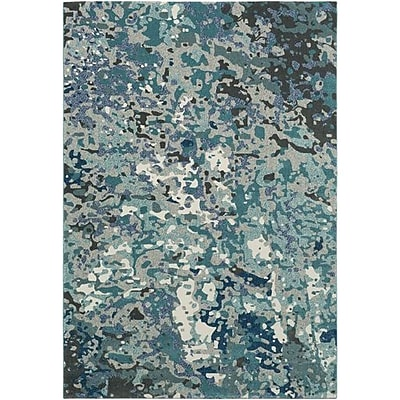 Ebern Designs Donvers Teal/Navy Area Rug; 2'2'' x 4'