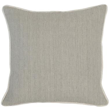 Gracie Oaks Trion Throw Pillow; Gray