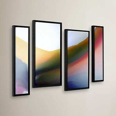 Orren Ellis 'Being 02B' 4 Piece Framed Painting Print Set; 36'' H x 54'' W x 2'' D