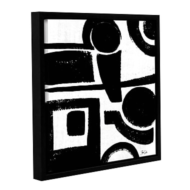 Orren Ellis 'Black and White Abstract II' Framed Painting Print; 14'' H x 14'' W x 2'' D