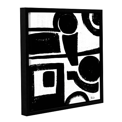 Orren Ellis 'Black and White Abstract II' Framed Painting Print; 18'' H x 18'' W x 2'' D