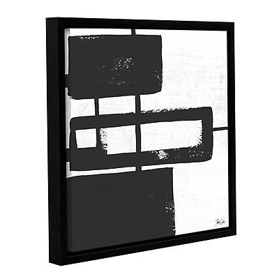Orren Ellis 'Black and White Abstract III' Framed Painting Print; 14'' H x 14'' W x 2'' D