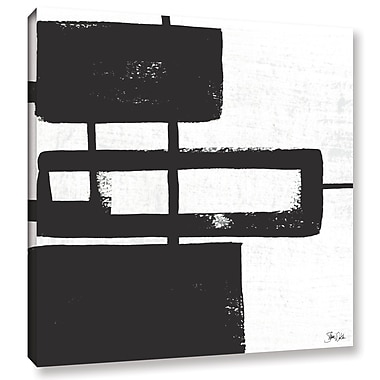 Orren Ellis 'Black and White Abstract III' Painting Print on Wrapped Canvas; 24'' H x 24'' W x 2'' D