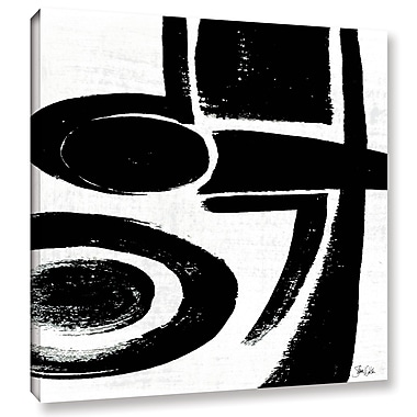 Orren Ellis 'Black and White Abstract IV' Graphic Art on Wrapped Canvas; 24'' H x 24'' W x 2'' D