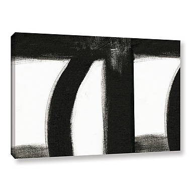 Orren Ellis 'Black and White III' Painting Print on Wrapped Canvas; 8'' H x 10'' W x 2'' D