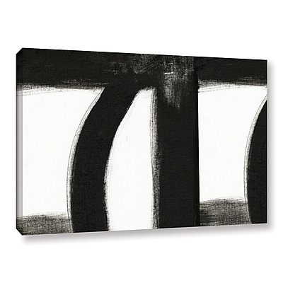 Orren Ellis 'Black and White III' Painting Print on Wrapped Canvas; 14'' H x 18'' W x 2'' D