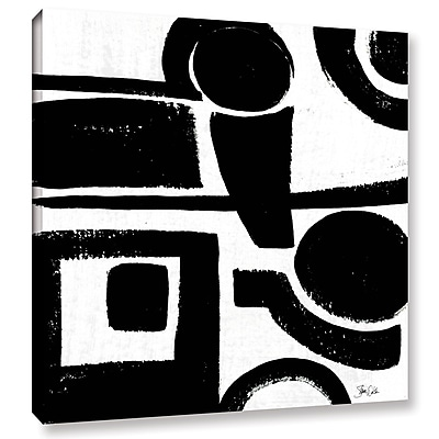 Orren Ellis 'Black and White Abstract II' Painting Print on Wrapped Canvas; 10'' H x 10'' W x 2'' D