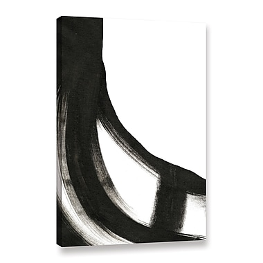 Orren Ellis 'Black and White II' Painting Print on Wrapped Canvas; 10'' H x 8'' W x 2'' D