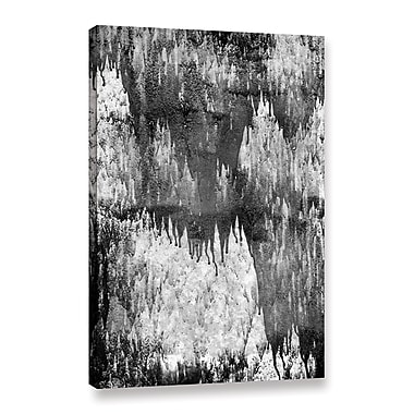 Orren Ellis 'Monochromatic Noir Dripping' Painting Print on Wrapped Canvas; 24'' H x 16'' W x 2'' D