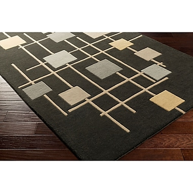 Ebern Designs Dewald Hand-Tufted Brown Area Rug; Round 4'