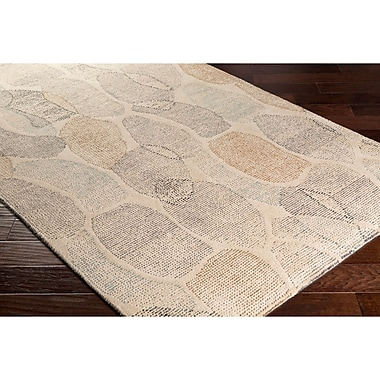 Ebern Designs Digby Hand-Tufted Neutral/Gray Area Rug; 4' x 6'