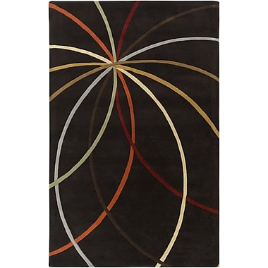 Ebern Designs Dewald Chocolate Area Rug; Square 6'