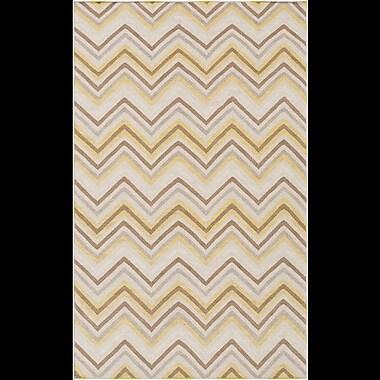 Ebern Designs Diego Brown & Tan Chevron Area Rug; 5' x 8'