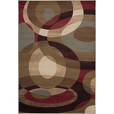 Ebern Designs Douglasland Caramel & Tea Leaves Area Rug; 7'10'' x 10'10''