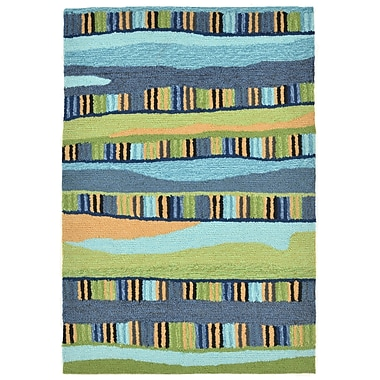 Ebern Designs Derby Blue Area Rug; 2' x 3'