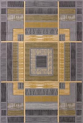 Ebern Designs Dov Geometric Silver Area Rug; 2'7'' x 7'2''
