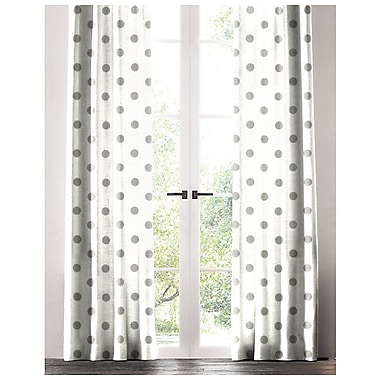 Harriet Bee Jaimie Polka Dot Single Curtain Panel; 50'' W x 72'' L