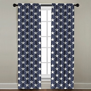 Harriet Bee Jake Star Geometric Single Curtain Panel; 50'' W x 84'' L