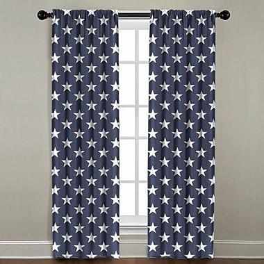 Harriet Bee Jake Star Geometric Single Curtain Panel; 50'' W x 120'' L