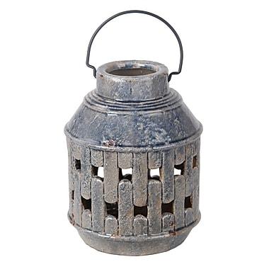Highland Dunes Metal Handle Ceramic Lantern