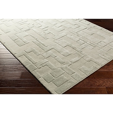 Ebern Designs Dionne Hand-Tufted Gray Area Rug; 2' x 3'