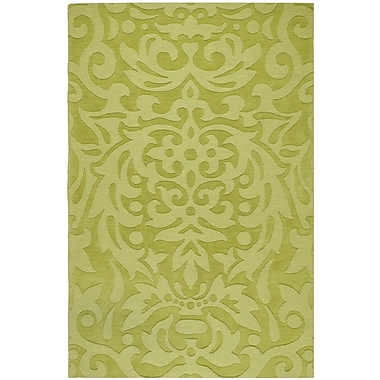 Ebern Designs Dorthea Lime Green Floral Area Rug; 8' x 11'