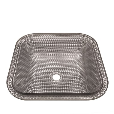 JSG Oceana Cubix Square Undermount Bathroom Sink; Gray Mist