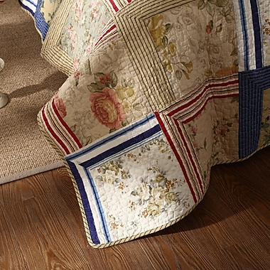 August Grove Marianne Patchwork Reversible Quilt Set; Twin