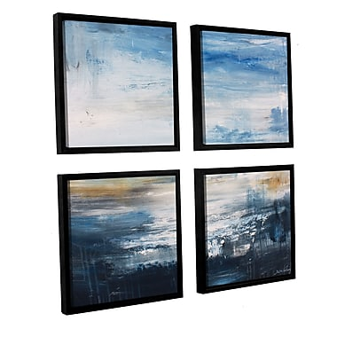 Brayden Studio 'Tundra I' 4 Piece Framed Painting Print on Canvas Set; 48'' H x 48'' W x 2'' D