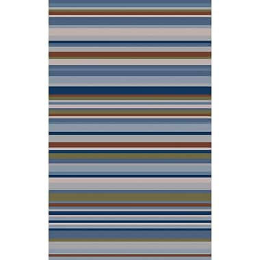 Ebern Designs Dixon Multi-Colored Striped Rug; 5' x 8'