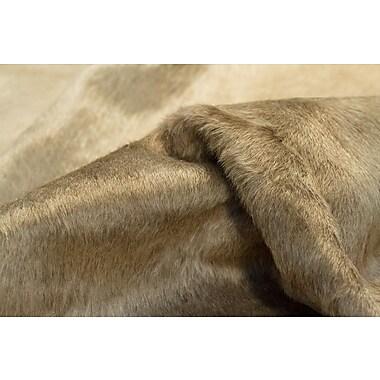 Latitude Run Plainsboro Hand-Woven Cowhide Taupe Area Rug ; 4'5'' x 6'5''
