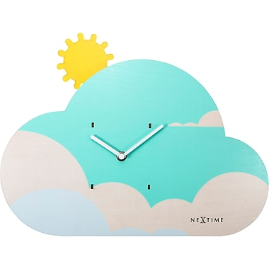 Zoomie Kids Eclectic Cloudy Wall Clock